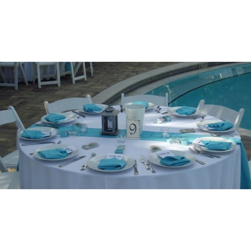 aqua table runner