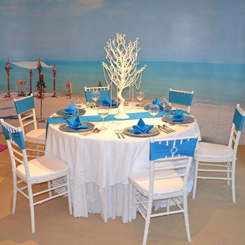 polyester table runner beach wedding