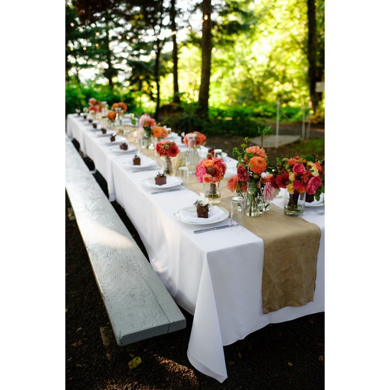 90 X 132 Inch Polyester Cotton Banquet Tablecloth