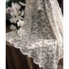 Ivory lace table overlay 54 x 54