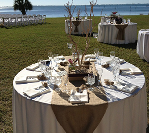 Table runner wedding setting table