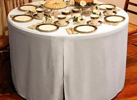 Polyester Round Fitted Tablecloth